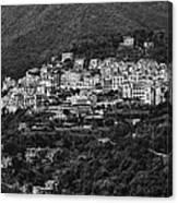 Hillside Amalfi Coast Canvas Print