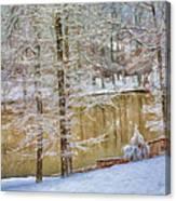 Hillside Snow - Winter Landscape Canvas Print