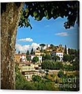 Hillside Tuscan Village  Canvas Print