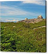 Hillside View Of Swissair Flight 111 Memorial In Whalesback-ns Canvas Print
