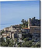 Hilltop Town Of Eza Canvas Print