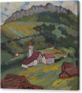Hilltop Village Switzerland Canvas Print