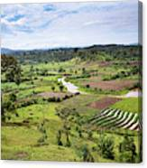 Hilly Landscape Of The Southern Ugandan Canvas Print