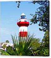 Hilton Head Lighthouse And Palmetto Canvas Print