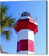 Hilton Head Lighthouse Upclose Canvas Print