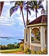Hilton Waikoloa Gazebo Canvas Print