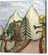 Himalaya Dharamkot Path Canvas Print