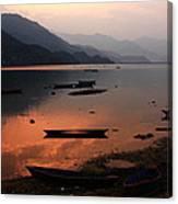Phewa Lake, Pokhara, Nepal Canvas Print