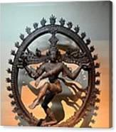 Hindu Statue Of Shiva In Nataraja Dance Pose Canvas Print