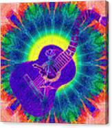 Hippie Guitar Canvas Print