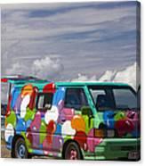 Hippie Man Van Canvas Print