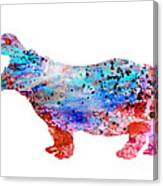 Hippo 3 Canvas Print