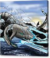 Hippocampi Canvas Print