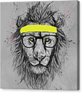 Hipster Lion Canvas Print