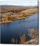 Historic Alaska Gold Dredge In Fall Canvas Print
