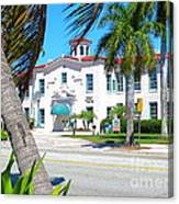 Historic And Beautiful Crest Theatre In Delray Beach. Florida. Canvas Print