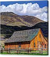 Historic Barn - Wasatch Front Canvas Print