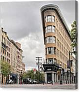 Historic Buildings In Gastown Vancouver Bc Canvas Print