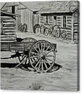 Historic Cabins Cody Wyoming Canvas Print