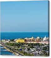 Historic Cartagena And Sea Canvas Print