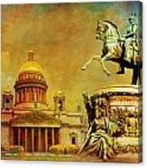 Historic Center Of Saint Petersburg Canvas Print