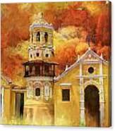 Historic Center Of Santa Cruz De Mompox Canvas Print