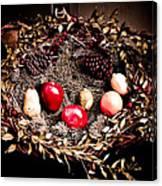 Historic Christmas Wreath Canvas Print