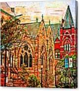 Historic Churches St Louis Mo - Digital Effect 6 Canvas Print