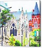Historic Churches St Louis Mo - Digital Effect 7 Canvas Print