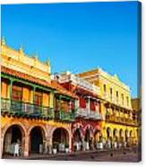Historic Colonial Facades Canvas Print