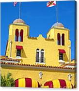 Historic Colony Hotel Twin Towers. Delray Beach Florida. Canvas Print