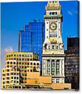 Historic Custom House Clock Tower - Boston Skyline Canvas Print
