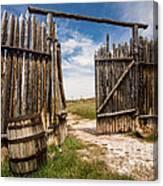 Historic Fort Bridger Gate - Wyoming Canvas Print