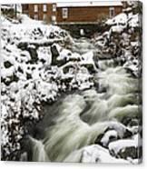 Historic Harrisville Nh In Winter Canvas Print