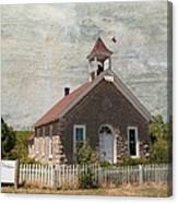 Historic Hinerville School  House  Canvas Print