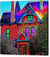 Historic House Pop Art Canvas Print