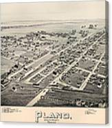 Historic Map Of Plano Texas 1891 Canvas Print