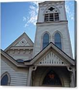 Historic Methodist Church Looking Up Canvas Print