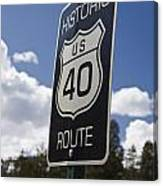 Historic Route Us 40 Sign Canvas Print