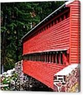 Historic Sach's Covered Bridge Canvas Print