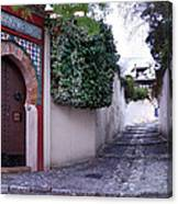 Historic Street At Albaycin In Granada' Canvas Print