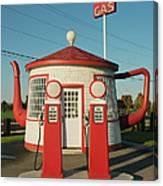 Historic Teapot Gas Station Canvas Print