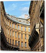 Historic Tenement Houses In Budapest Canvas Print