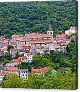 Historic Town Of Bakar In Green Forest Canvas Print