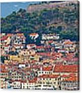 Historic Town Of Sibenik Panorama Canvas Print