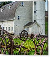 Historic Uniontown Washington Dairy Barn Canvas Print