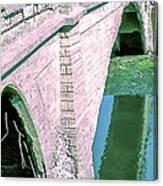 Historic Venice Canal Bridge In California Falling Apart In 1970. Canvas Print