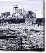 Historic Venice Pier In California Burned Down Over 40 Years Ago - Home To Lawrence Welk's Tv Show. Canvas Print