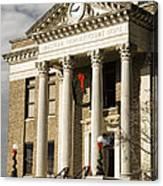 Historical Athens Alabama Courthouse Christmas Canvas Print