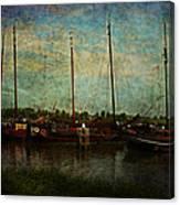 Historical Harbor Woudrichem The Netherlands Canvas Print